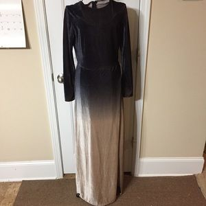 ZAFUL High Slit Ombre Maxi Velvet Dress Size Small